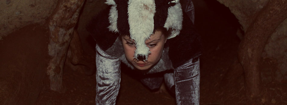 jasmine crawling through a tunnel